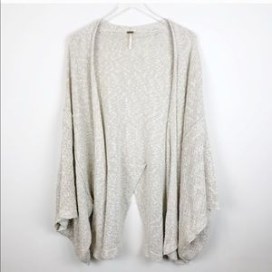 Free People oversized knit cardigan Tan Cocoon